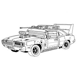 Post Apocalyptic 1969 Dodge Charger R/T Diagram by RedSpider2008