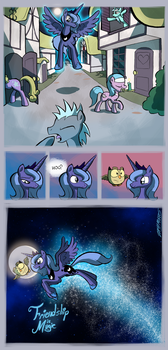 Luna Finds a Friend by WillDrawForFood1