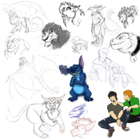 Sketch Dump 2012 by MintyMaguire