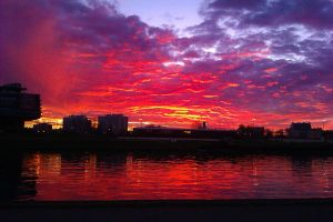 Vistula sunset by photo-exile