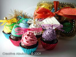Mini Cupcake Ornaments 03 by CreativeAbubot