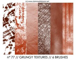 PHOTOSHOP BRUSHES : textures by darkmercy
