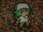 N in perler beads by TheRavenGirl95