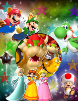 A Huge Mario Characters Background by YoshiLuigi45