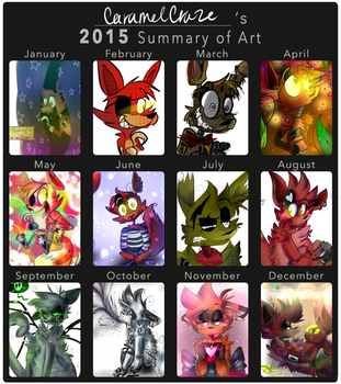 Summary of art | 2015 by CaramelCraze