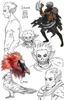 Sketch Page_Sazer by BlackBirdInk