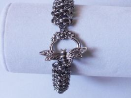 Byzatine Ladder Bracelet with Dragonfly Toggle by Pharewings