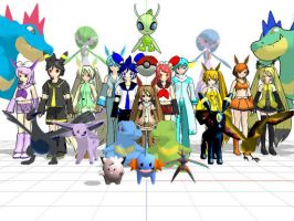 All My MMD Pokemon Models by luckymasie