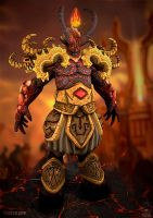 Sargeras - The Fallen Titan by GastonBR