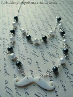 Shell Mustache with Faux Pearls Necklace by Forbiddenynforgotten