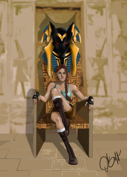 Lara Croft and Throne of Anubis by ASaff
