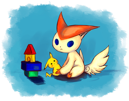 Pokemon: Victini by Pabeme