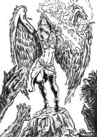 Angel with a Flaming Sword by whiteeye