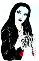 Morticia Addams Sketch by Medusa1893