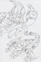 PXMY ORAS (?): Mutant Kyogre and Groudon by BlueIke
