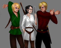 Shane, Madelyn, Mairtin - teens (finished) by ToAtoneArt