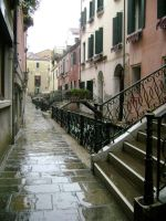 Venician Canal in the Rain by medievalfaery