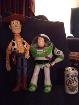 Woody and Buzz size comparison by JereduLevenin