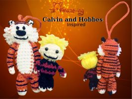 Amaze-ing Calvin and Hobbes-Inspired Dolls by Amaze-ingHats