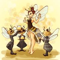 the queen bee by Peng-Peng