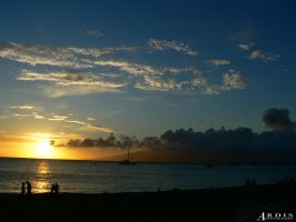 Hawaii - A Sunset Voyage by Emn1ty