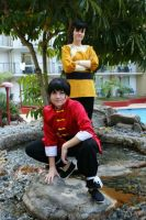 Ranma and Ryoga by xRoxyryokox
