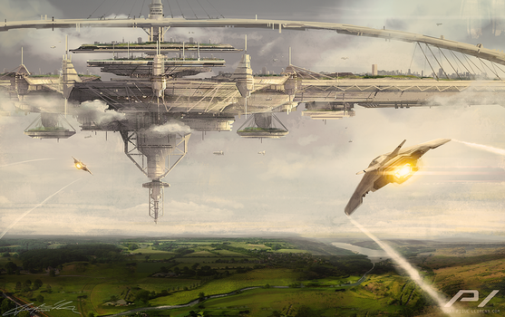 Flying City by JoanPiqueLlorens