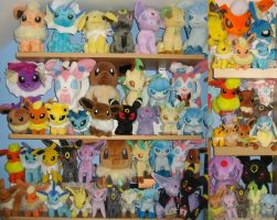 Eeveelution Plush Collection Update by MizukiiMoon