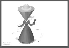 Cone woman wip by K-hermann
