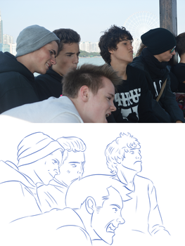 Photo to Drawing #2 - Fun in Wuxi by Hiverlive