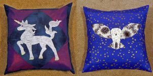 Fantasy Theme Pillows by magpie-poet