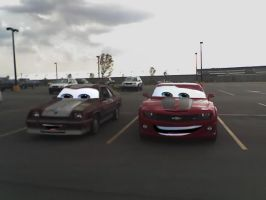 Cars Shelby and Camaro by Steven304