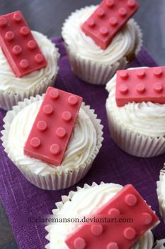 Lego Cupcakes by claremanson