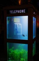Phonebooth aquarium - Lichtfestival Gent 2012 by AmonKane