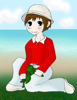 Gilligan and his little friend by musingpadawan