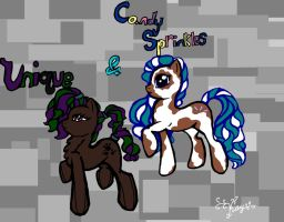 Candy Sprinkles  and   Unique by TheSisters2