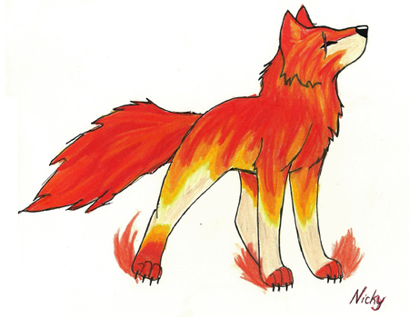 Fire Wolf by coolsilverwolfpup