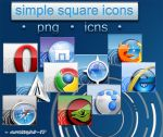 Simple Square Icons Browsers by Arclight-17