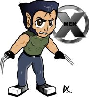 Wolverine Chibi by DAVEAC1117