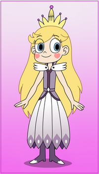 Star Butterfly wears her Mother's warrior dress by Deaf-Machbot