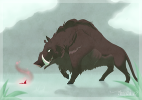 The Boar and the Butterfly by KaijuRomance
