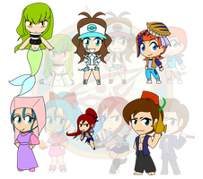 Assorted Chibis - Once Upon a Disney Mess by Dragon-FangX