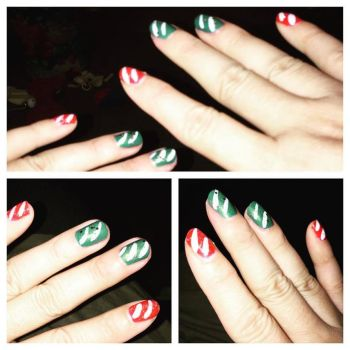 Candy Cane Red Green by ClaudiaYvette