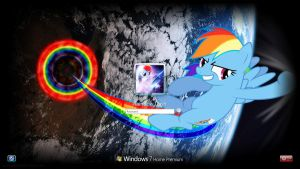 Rainbow Dash Logon Screen by Galvan19