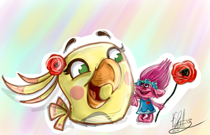 .:Cheerful friends:. by KatTheFalcon