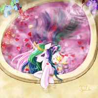 Princess Celestia to enjoy time by TzuLin520