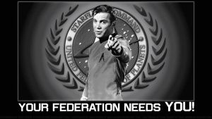William Shatner THE FEDERATION NEEDS YOU by Dave-Daring