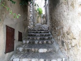 Place 290 - stairs in medieval city by Momotte2stocks