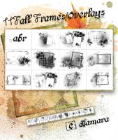 11FallFramesOverlays by Diamara