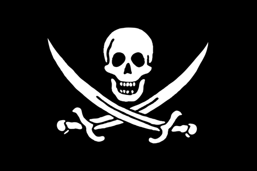 Pirate flag -vector, 4K- by nousernameremain